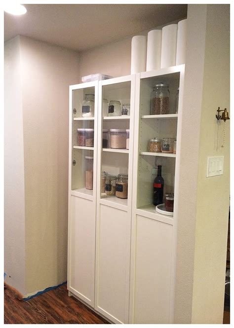 Kitchen Open Shelves Ideas by Ikea Pantry Hack Kitchen Pantry Using Ikea Billy Bookcase