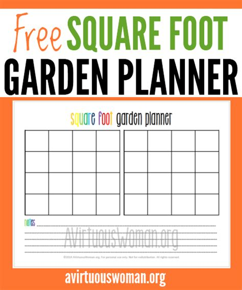garden planner template free square foot garden planner printable
