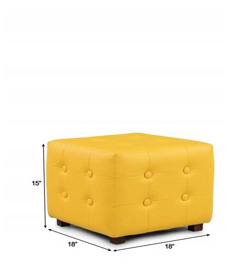 yellow square ottoman arra candy square ottoman yellow best price in india on