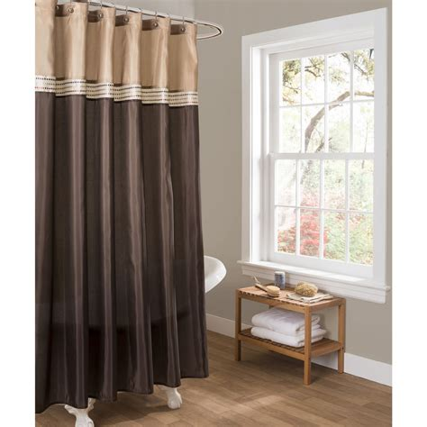 brown and beige shower curtain lush decor c11751q13 terra shower curtain ebay