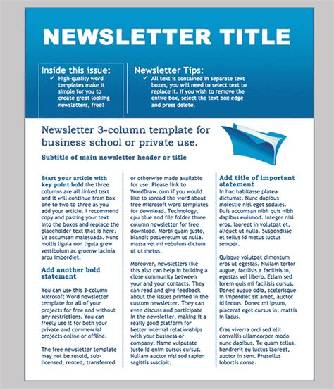 free news letter template word newsletter template 31 free printable microsoft