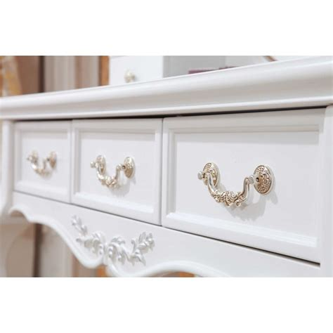 French Provincial Bedroom queen anne french dressing table w mirror in white buy