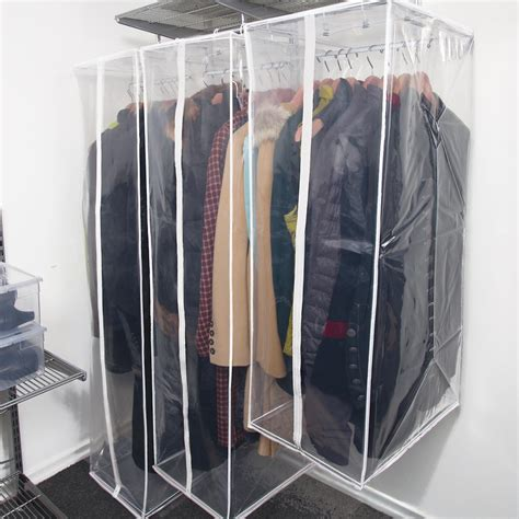 Hanging Clothes Storage peva hanging storage bags the container store