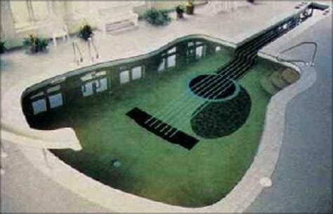 guitar shaped swimming pool wanna swim in the guitar 13 pics izismile