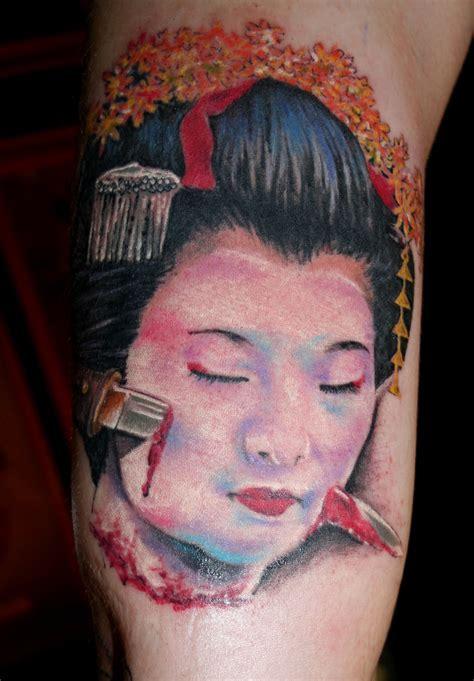tattoo geisha head geisha s head tattoo by mirek vel stotker stotker flickr