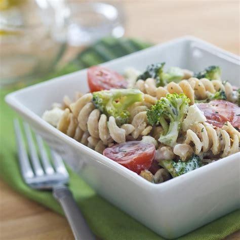 pasta slad broccoli feta pasta salad recipe eatingwell