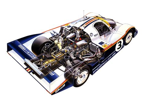 Porsche 956 Sketches Of Performance by Porsche 956 Cutaway Drawing In High Quality