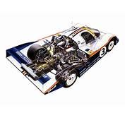 Porsche 956 Cutaway Drawing In High Quality