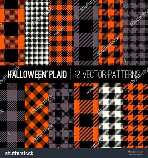 check pattern en francais halloween plaid buffalo check patterns orange stock vector