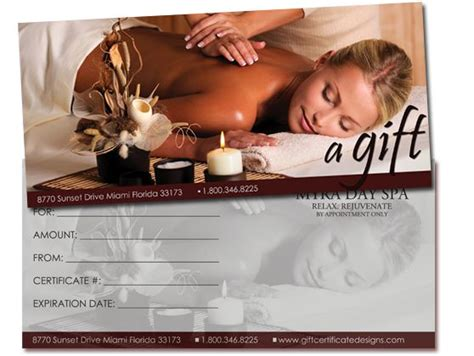 Massage Gift Card Template - 25 best images about gift certificates on pinterest