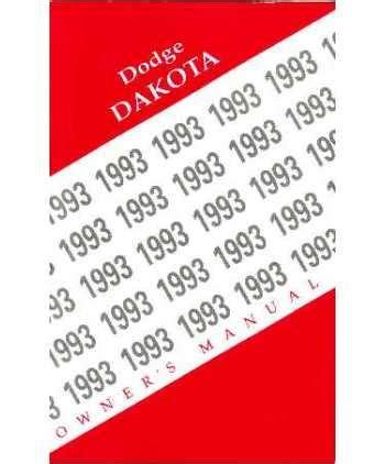1993 dodge dakota owners manual