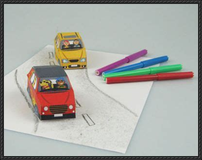 How To Make Cars With Paper Step By Step - two paper cars for free paper toys