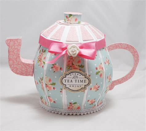 shabby chic teapot free printable boxes printable 3d paper crafts now you can t have a teapot