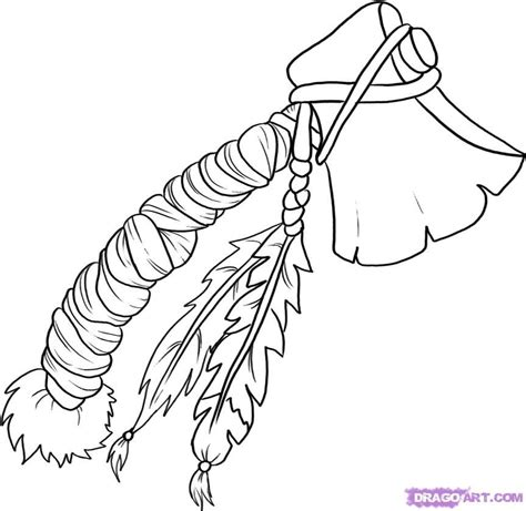 creek indian coloring page how to draw a tomahawk step by step knives and spears