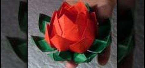 How To Make Lotus Using Paper - how to make an origami lotus flower 171 origami