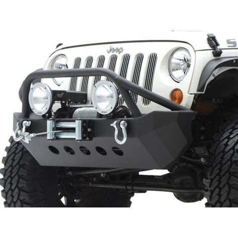 jeep armor bumper smittybilt 76806 xrc armor front bumper with winch plate