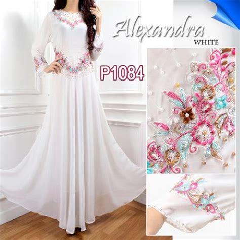 Gamis Pesta White baju gamis pesta alexandra p1084 white baju muslim modern