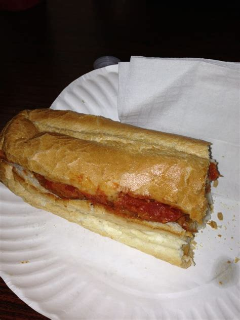 roslindale house of pizza one half of the large chicken cutlet sub yelp