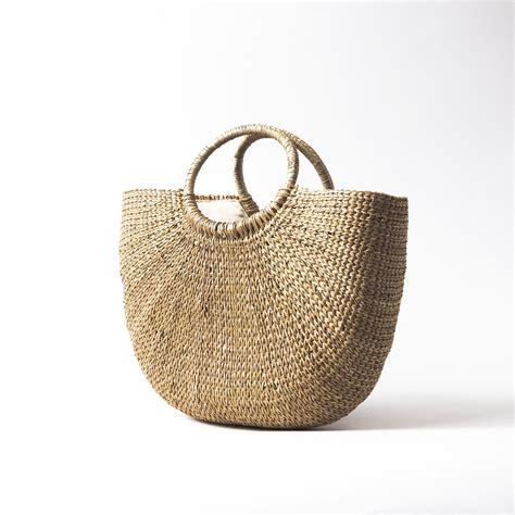 Straw Bag rattan straw bag 300 08 elvan kaya made kilim bag