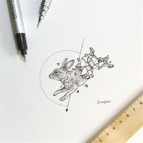 minimalist tattoo artist manila geometric beasts rabbit 187 kerby rosanes 171 pinterest