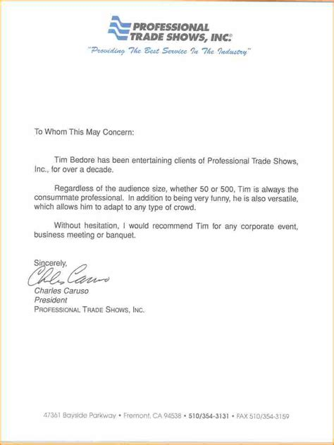 Recommendation Letter For In A Professional Letter Of Recommendation Basic Appication Letter