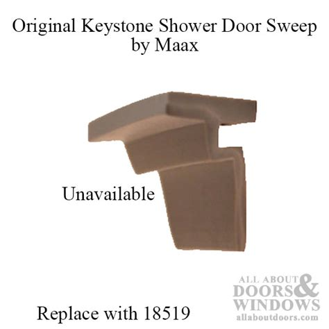 Replacement Shower Door Sweep Replacement Shower Door Bottom Vinyl Seal Sweep Keystone By Maax Light Grey