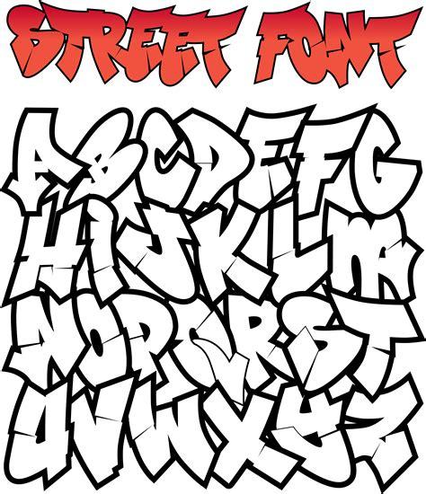 graffiti street font   vectors clipart
