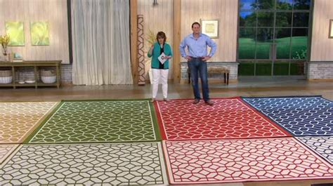 Veranda Living Indoor Outdoor Rug Veranda Living Colors Indoor Outdoor 7x10 Geometric Reversible Rug Qvc