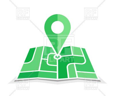 green geo pin symbol. icon of map and navigation route