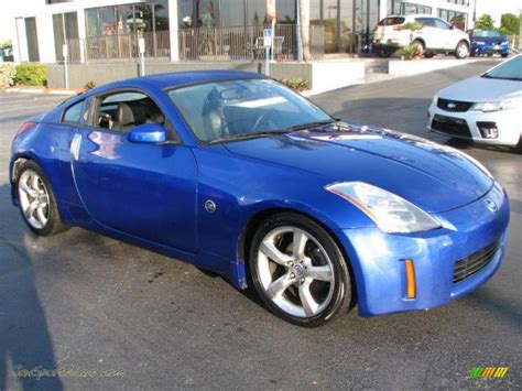 nissan sports car blue 2004 nissan 350z touring coupe in daytona blue metallic
