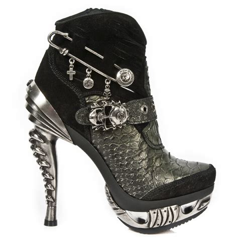 silver patterned heels silver alligator pattern leather high heel ankle booties