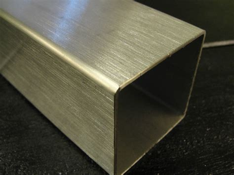 steel box section 40mm brushed stainless steel square box section 40 x 40