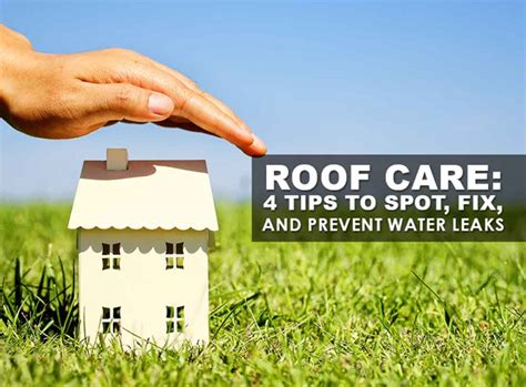 Best Ways To Prevent Roof Roof Care 4 Tips To Spot Fix And Prevent Water Leaks