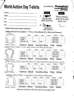 7 Best Images About Order Form On Pinterest Free Printable Autism T Shirts And Back To School T Shirt Sizing Estimation Template