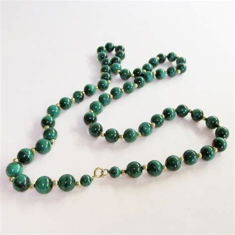 malachite bead necklace malachite bead necklace from warejewelry on ruby