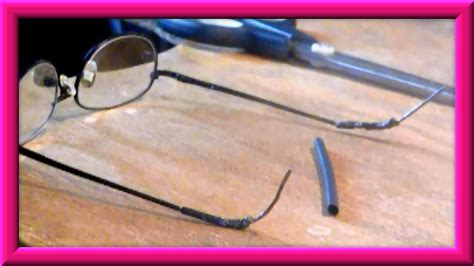 how to repair the temple tips on your eyeglasses