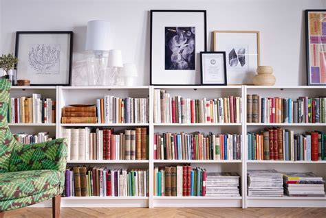 low bookshelves ikea library by day guest room by