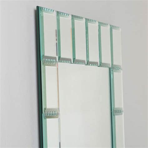 montreal modern rectangular beveled bathroom mirror decor