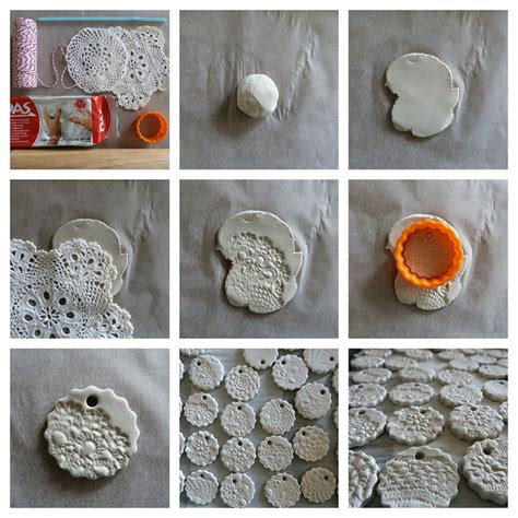lufttrocknende modelliermasse ideen air clay ornament tutorial how to do easy