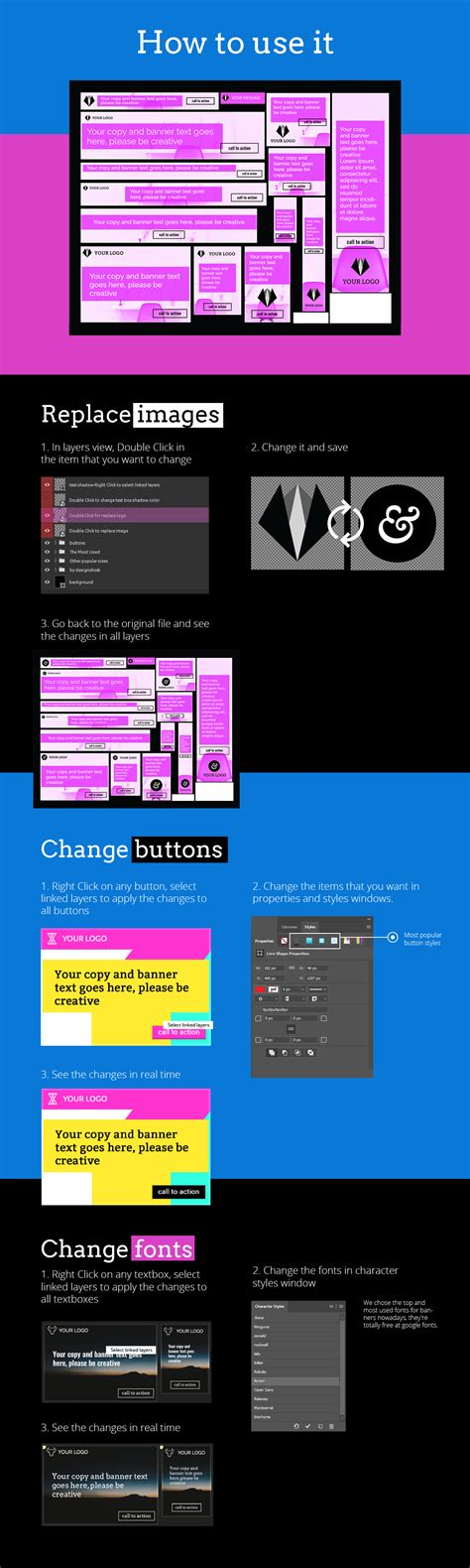 layout banner generator banner template generator pack design shock