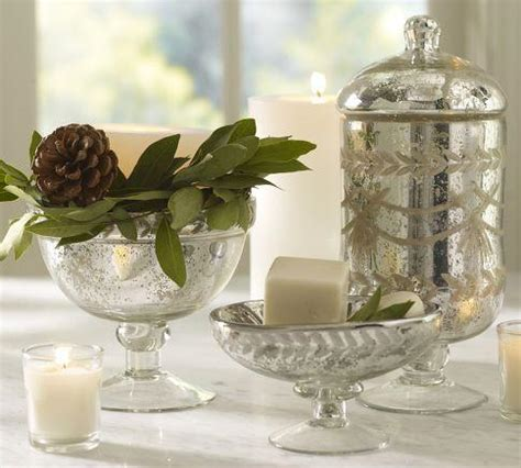 etched mercury glass bath accessories pottery barn