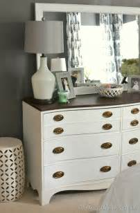 Painted Bedroom Furniture by Painted Dresser And Mirror Makeover Master Bedroom Furniture