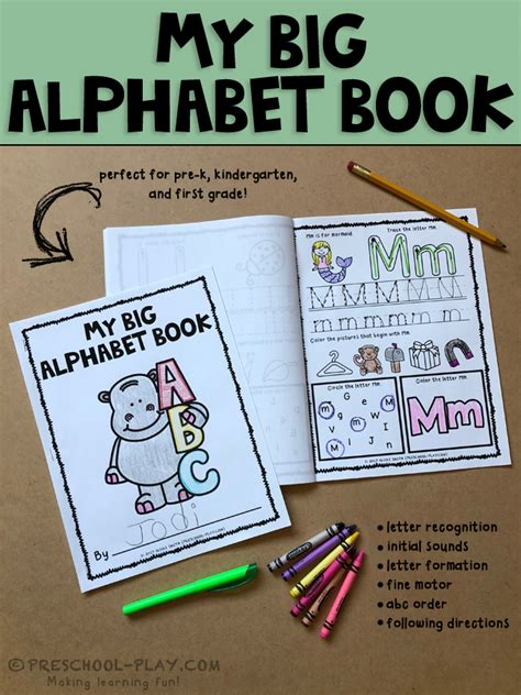 printable alphabet book printable alphabet book preschool play