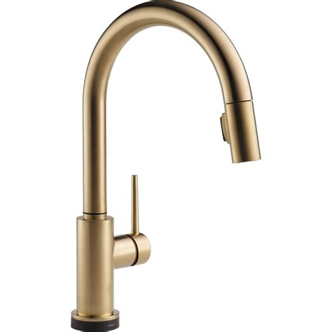 delta faucets kitchen delta faucet 9159t ar dst trinsic arctic stainless pullout spray kitchen faucets efaucets