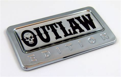Emblem Limited Edition Kecil 3d Metal Chrome special edition emblems outlaw edition 3d chrome auto emblem