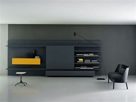 modern wall storage the modular modern wall unit by piero lessoni