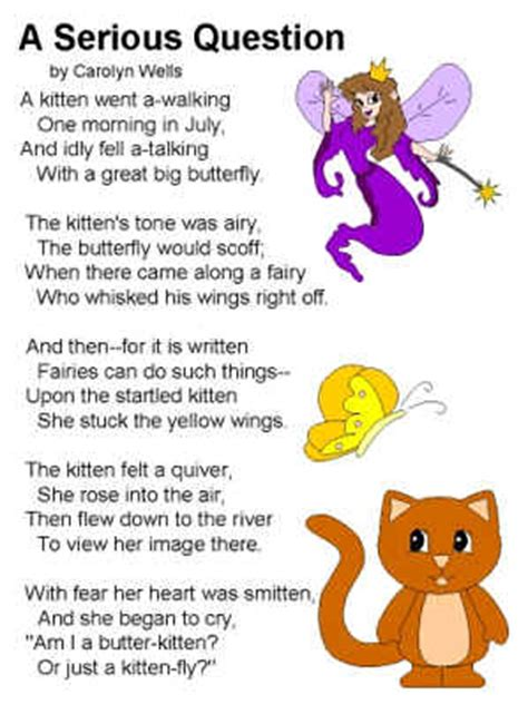poems for toddlers poem a serious question by carolyn