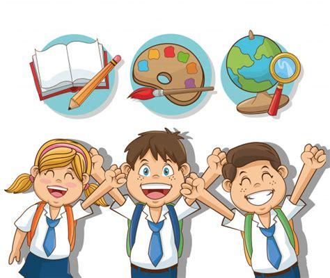 imagenes de estudiantes virtuales ni 241 os y ni 241 as dibujos animados estudiantes descargar