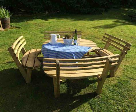 circular picnic benches circular picnic table with back rests caledonia play
