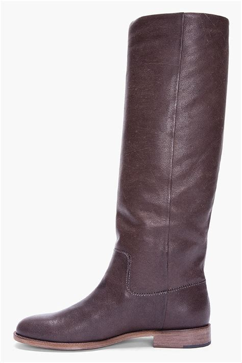 brown leather boots for maison martin margiela brown leather boots for